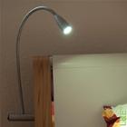 Bettleuchte LED Leselampe Bettlampe Aluminium (rechte Seite) kaltweiss