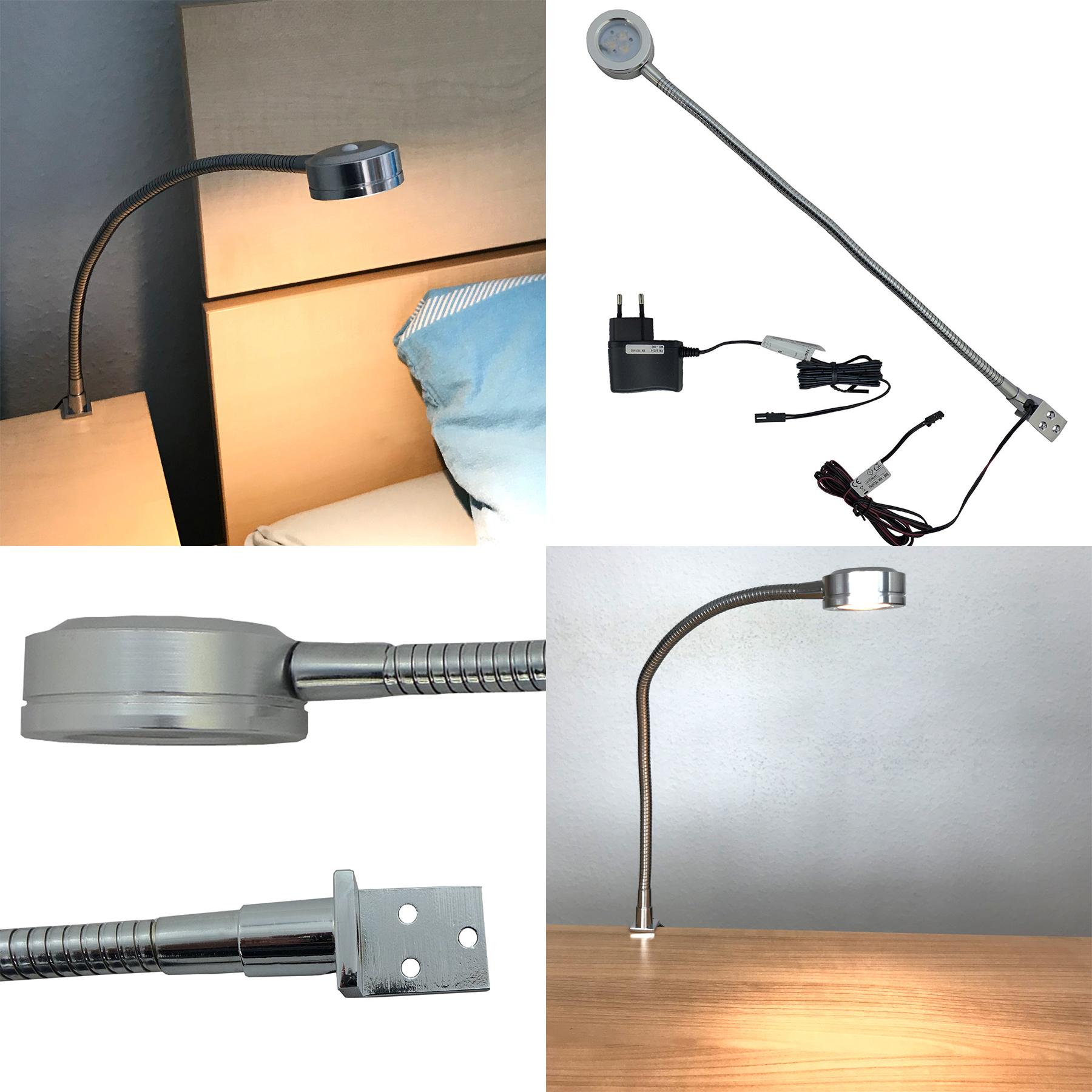 LED Bettleuchte Swing 1,5 W  aus Aluminium mit Schalter