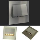 LED Edelstahl Treppenbeleuchtung Wandleuchte, Navi 230V warm weiss