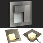 LED Edelstahl Treppenbeleuchtung Wandleuchte, Timo 230V warm weiss