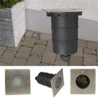 Bodeneinbaustrahler mit GU10 Fassung 230V, Quadrat - ohne Leuchtmittel