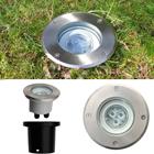 LED Bodeneinbaustrahler 3 Watt warm weiss schwenkbar Edelstahl Rund